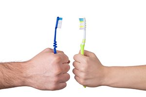 Do Not Share Toothbrushes