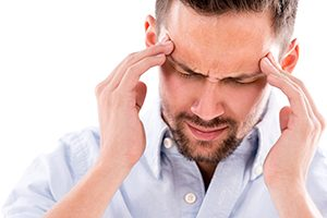 Man With TMJ Headache